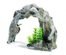 Classic Polyresin Driftwood Arch/Plants 25cm